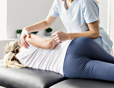 Woman Getting Chiropractic Work Done